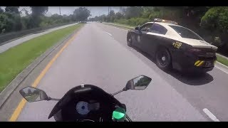 POLICE vs  BIKERS 2018 Police Chase, Getaways & Pullovers! 2018 [Ep #69]