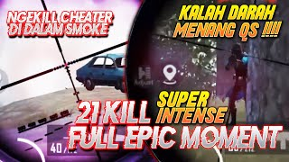 FULL EPIC MOMENT !! KILL CHEATER DI DALAM SMOKE SAMPE QUICK SCOPE !!! Ryan Prakasha PUBG Mobile