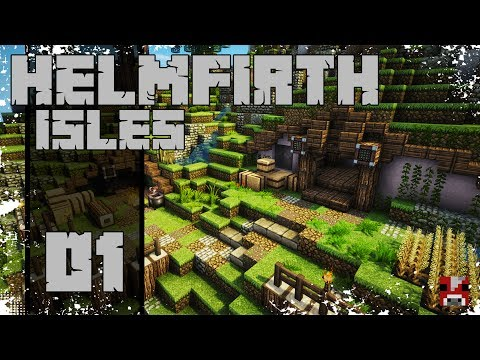 Minecraft Timelapse - Helmfirth Isles - 01 - Arlyne (A Hobbit Town)!
