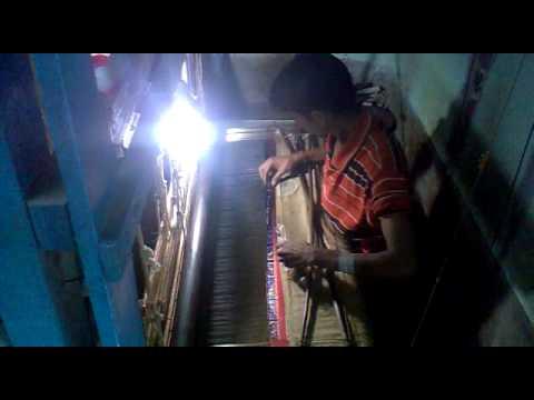 Making of baluchari Sari from bishnupur  Bankura west Bengal 21st jan 2012.mp4