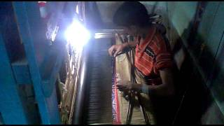 Making of baluchari Sari from bishnupur  Bankura west Bengal 21st jan 2012.mp4