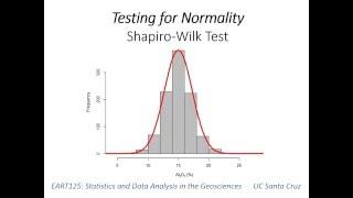 9: Shapiro-Wilk test