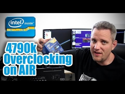 Overclocking the Intel 4790k with the MSI Z97 MPower on air!
