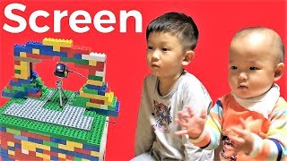 Fun TV time is best story for kids with Lego projector box screen