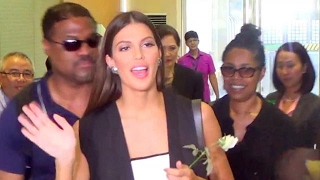 Miss Universe 2016 Iris Mittenaere departs for New York