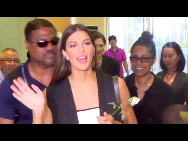 Miss Universe 2016 Iris Mittenaere departs for New York