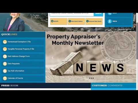 PBC Property Appraiser's Office - PAPA Website Redesign - Navigation Bar