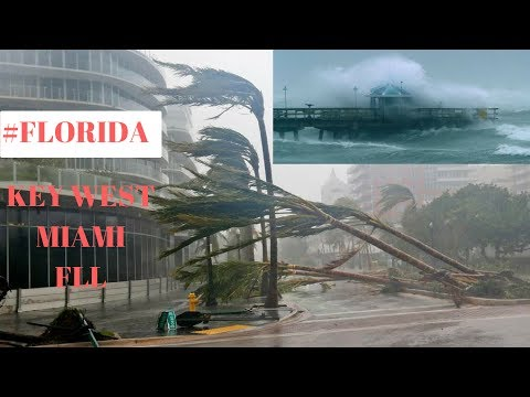 SHOCKING HURRICANE IRMA FOOTAGE IN KEYWEST | MIAMI | FT. LAUDERDALE