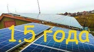 Солнечная электростанция 16 кВт. Полтора года работы