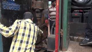 VERY AGGRESSIVE LOCOMOTIVE COUPLING AT MATHERAN RAILWAY STATION - INDIAN RAILWAYS