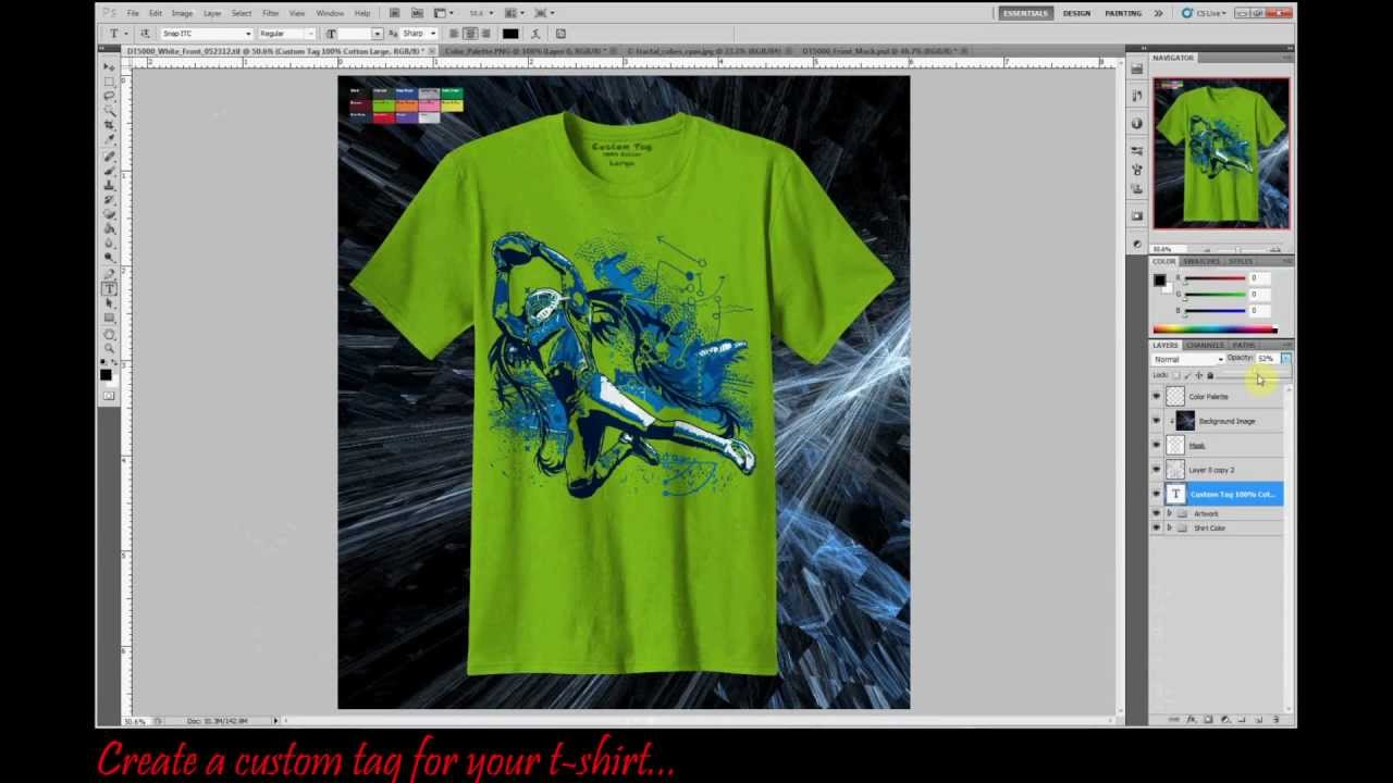 Professional T-shirt Mock-up Template using Photoshop CS5 - YouTube