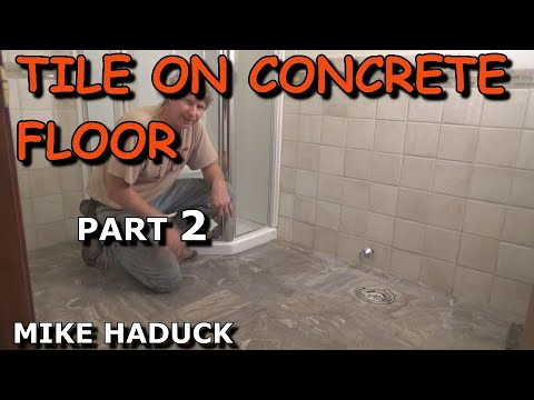 How I Lay Tile On A Concrete Floor Part 2 Of 2 Mike Haduck Youtube