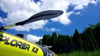 intex explorer k2 kayak test run