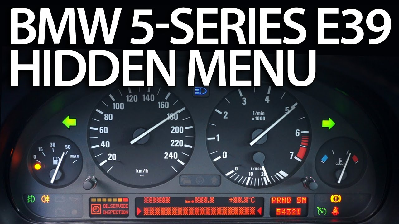 How to enter hidden menu in BMW E39 (5-series service test mode instrument  cluster)