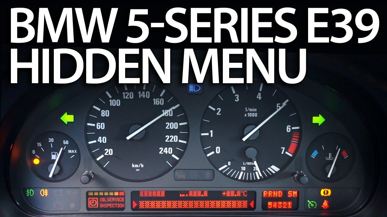 I Fuse Diagram How To Enter Hidden Menu In Bmw E39 5 Series Service Test