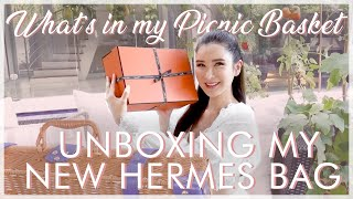 WHAT'S IN MY PICNIC BASKET + UNBOXING MY NEW HERMES BAG | JAMIE CHUA