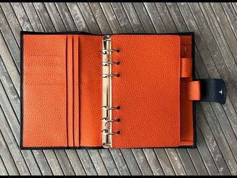 Moterm Planner Litchi Blue Orange | Unboxing