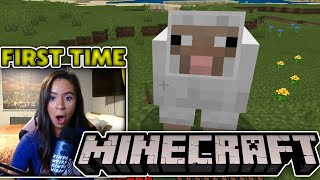 MINECRAFT BLIND| Lets play ?! First time playing Minecraft ever! I have no idea what im doing?!