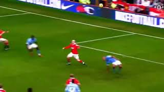 Goal spectacular Wayne Rooney vs man .city