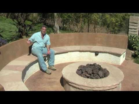 Round Fire Pit & Seat Walls