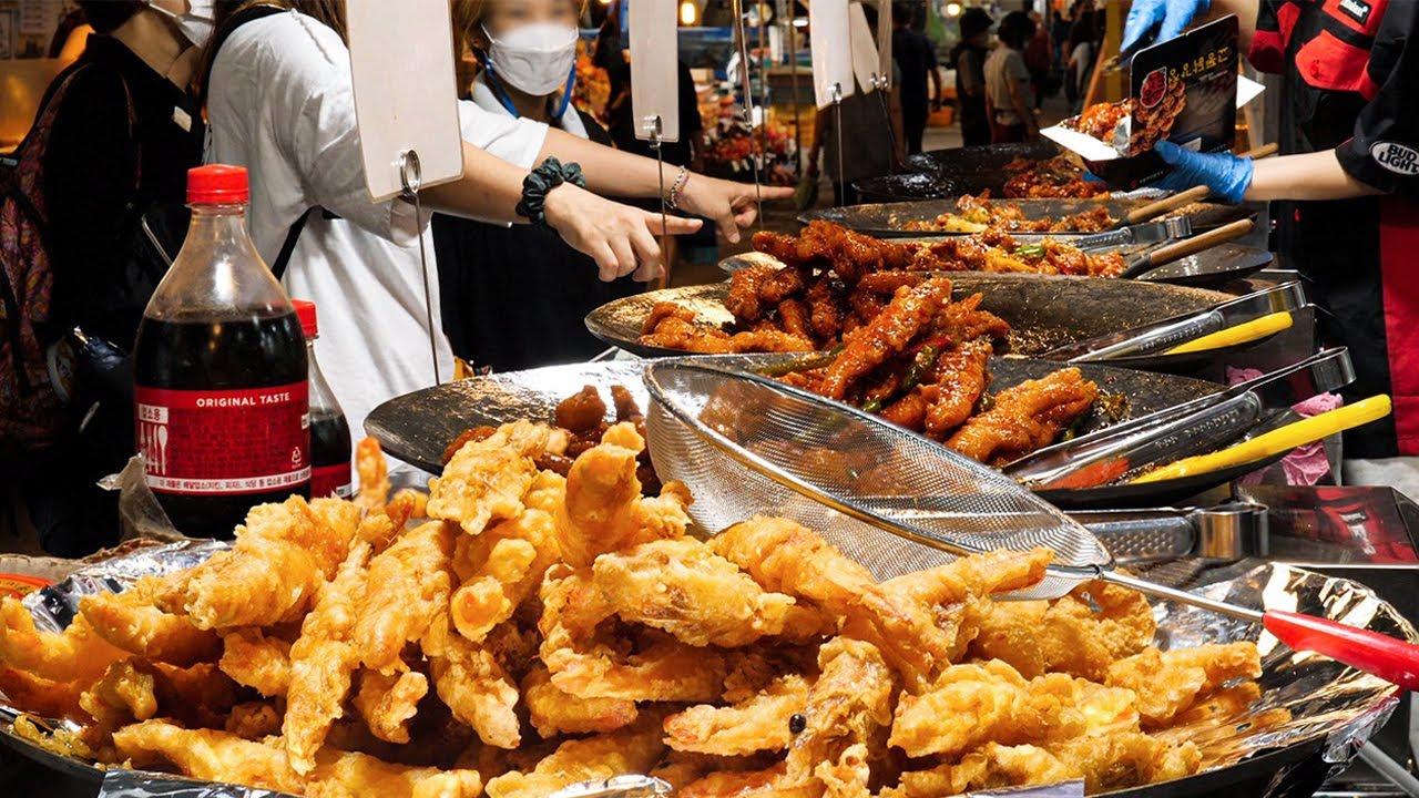 """하루에 300kg 다 팔리는 역대급 닭강정? 줄서서 먹는 시장 닭강정, 4가지맛~/Korean Fried Chicken """"Dakgangjung"""" -Korean Street food"""