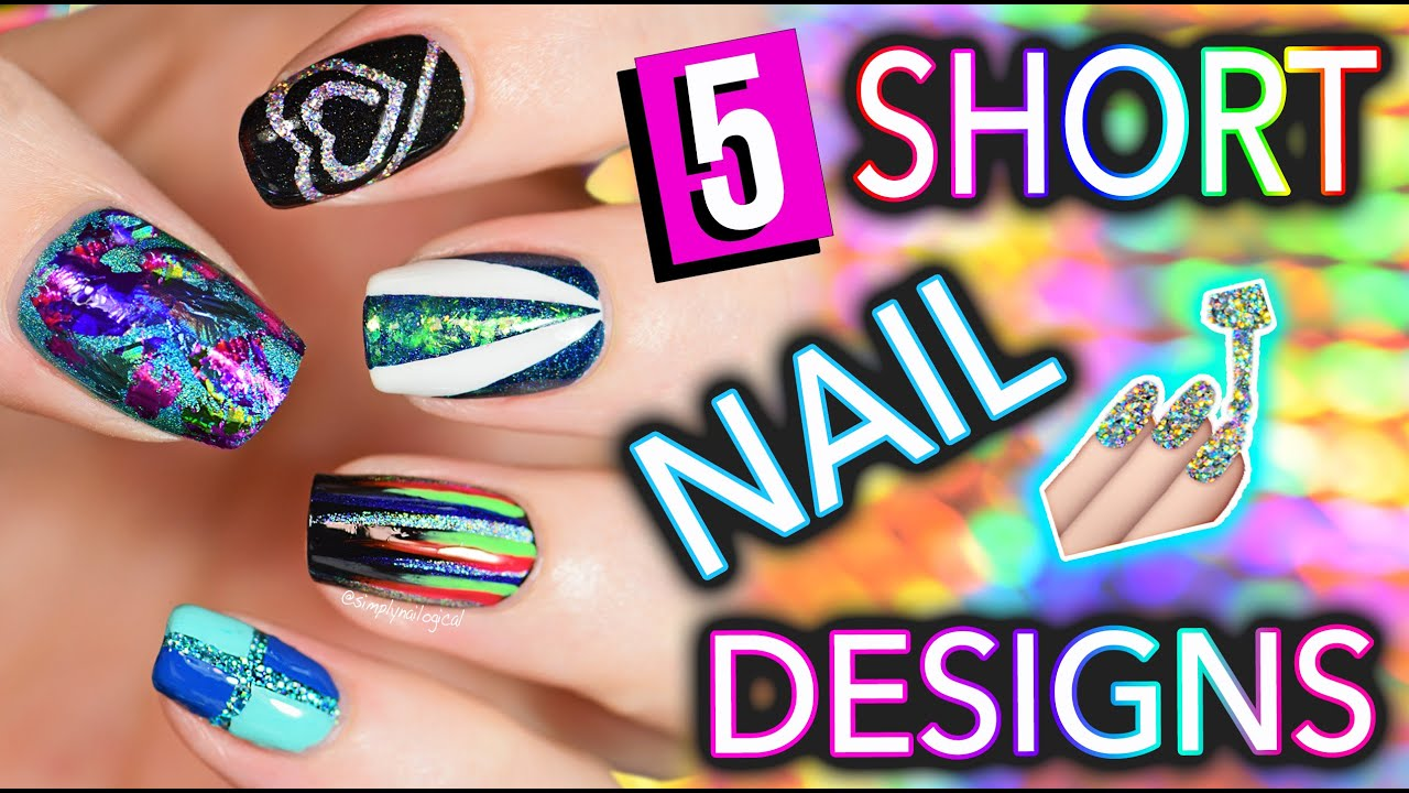 5 easy nail art design short