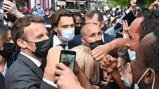 French President Macron slapped during trip to south, two people arrested