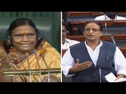 azam-khan-creates-uproar-in-lok-sabha-with-objectionable-remarks-about-woman-mp-on-chair