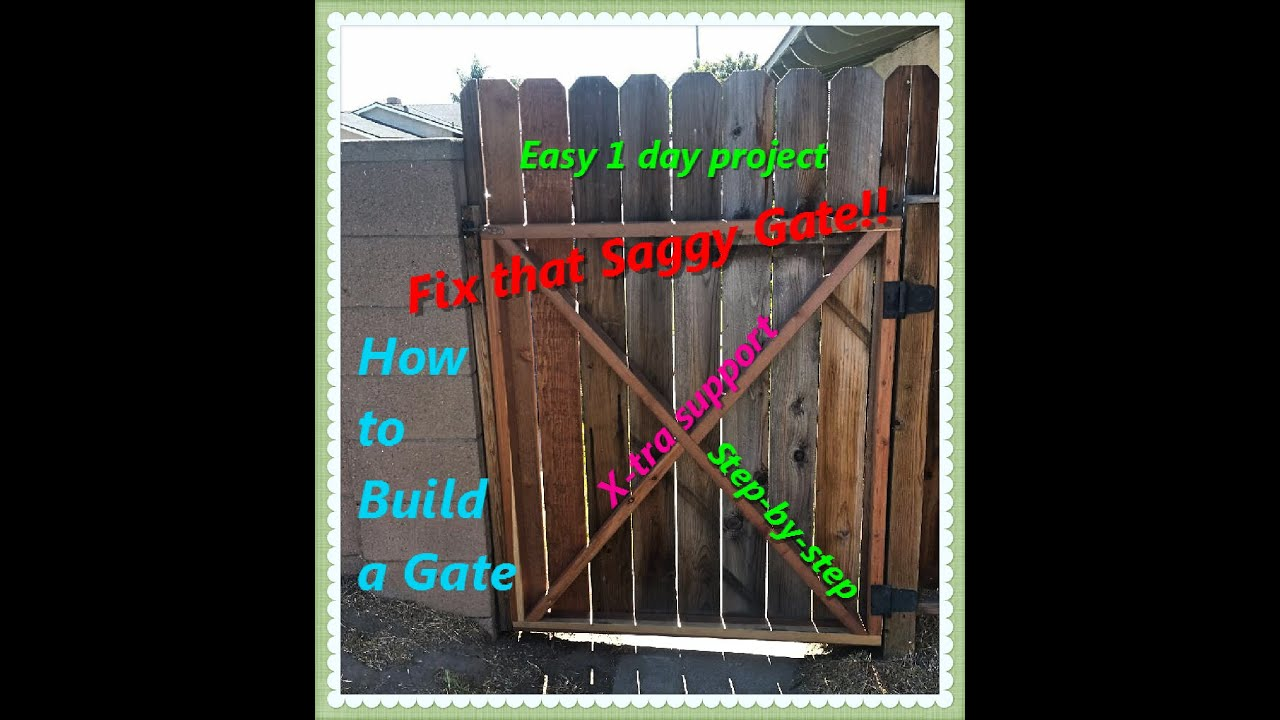 How to build a gate simple instructions  YouTube