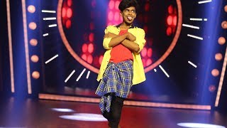 D4 Junior Vs Senior l Mukul as 'King Ghan' & 'Allu Aurjun'  I Mazhavil Manorama