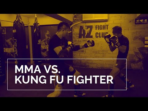 MMA Vs. Kung Fu Fighter Sparring