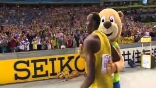 Championnats du monde d'athlétisme Berlin 2009   Finale 100m   Bolt en 9'58