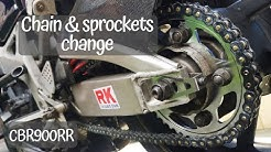 RK chain and sprockets change on CBR 900RR Fireblade