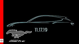 Electric Mustang Mach E Logo Reveal Date and Meaning