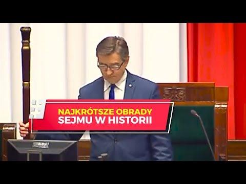To były chyba najkrótsze obrady Sejmu w historii. Trwały półtorej minuty