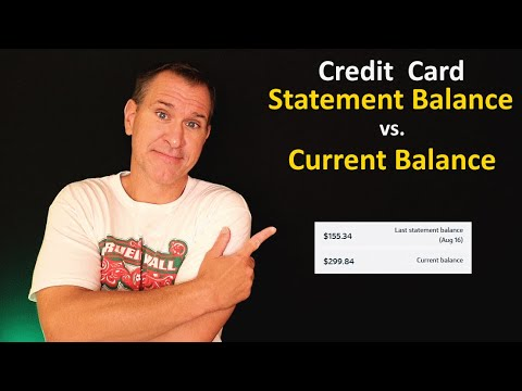 Credit Card Statement Balance vs. Current Balance - What's the Difference? Which one should you pay?