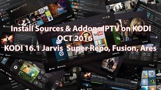 How to install sources & addons IPTV KODI on Fire TV Stick - OCT 2016-KODI 16.1 Jarvis  Super Repo