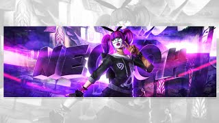 Ps Touch SpeedArt »[26] Ultra Nectoh » 3D Fortnite Header » (FREE GFX) [ Tutorial? ]