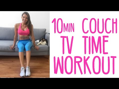 10 Min At Home TV Time Couch Workout | No Equipment Needed | Full Body Workout