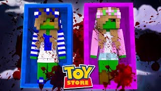 THE LITTLE CARLY AND LITTLE KELLY DOLLS ARE BITTEN BY ZOMBIES! (Minecraft Toystore).