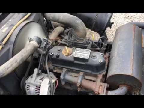 BAND-203,  John Deere Diesel engine on mower (transmission & drive shaft broke)
