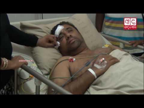 Mahinda Rajapaksa visits Rohitha Abeygunawardena at hospital