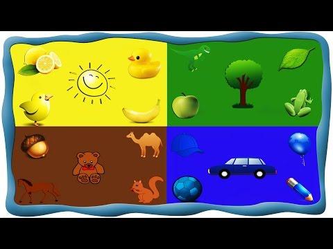 Детские Песни - цвета в картинках (рисуем с малышом, учим цвета)