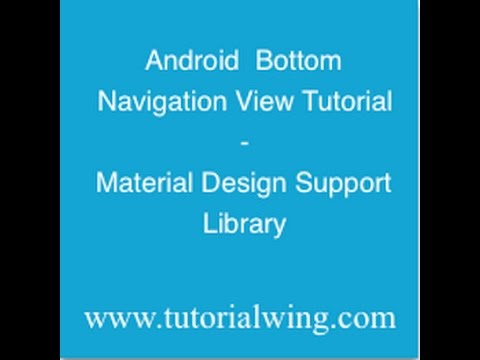 Android Bottom Navigation View Tutorial With Example
