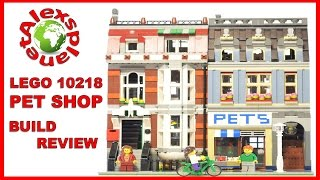 Lego Pet Shop. Animated Stop Motion Build Review. Lego 10218.