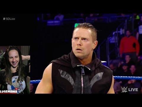 WWE Smackdown 2/7/17 Seattle crowd wont let Miz Speak