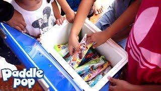 Bagi Bagi Es Krim PADDLE POP 💖 Jessica Jenica Bersama Teman Gotong Royong Membersihkan Lingkungan