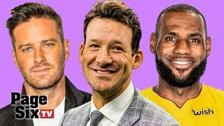 Tony Romo's Karaoke, Armie Hammer's Cockroaches, Lebron James' Vision, & Edie Falco | Page Six TV
