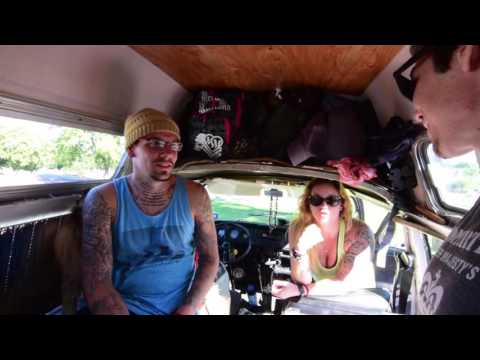 COOL COUPLE LIVE IN AWESOME VW VAN- TOUR AND INTERVIEW