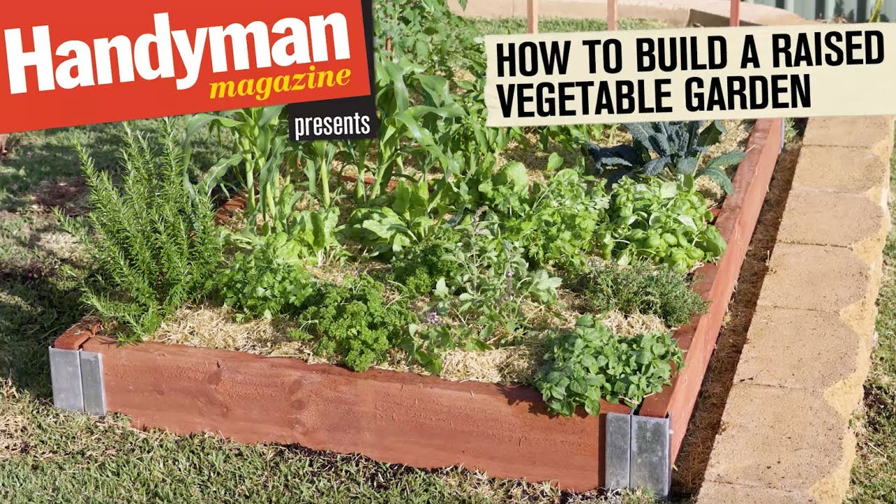 How to build a raised vegetable garden youtube for How to landscape a garden
